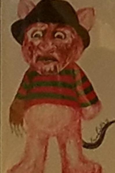 Freddy Scare Bear Print