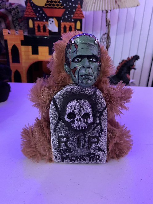 Frankenstein with Tombstone Mini Bear