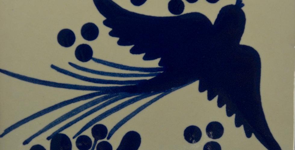 """Pajarito Azul   4""""x4"""""""