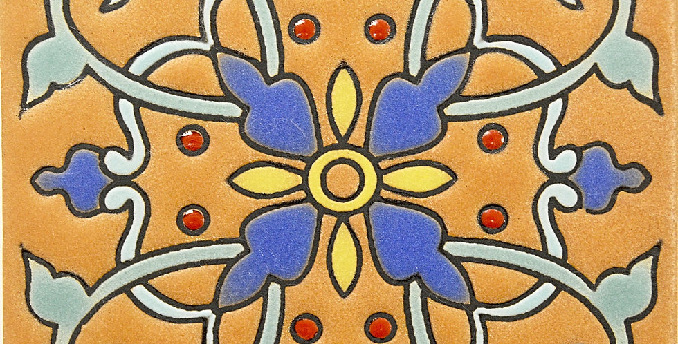 "Flor de Ganazia   High Relief  4""x4"""