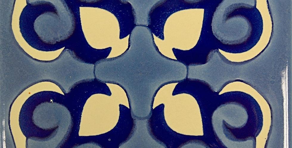 """Pétalos Azules    4""""x4"""""""