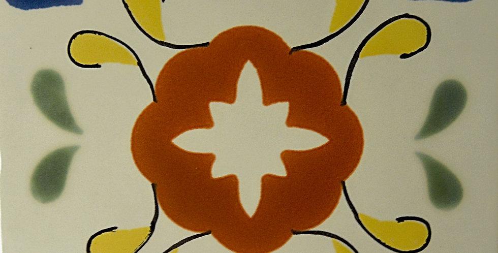 """Flor de Colores    4""""x4"""""""