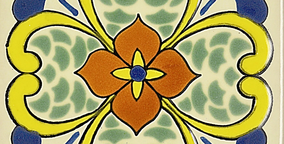 "Flor Narciso        High Relief 6""x6"""