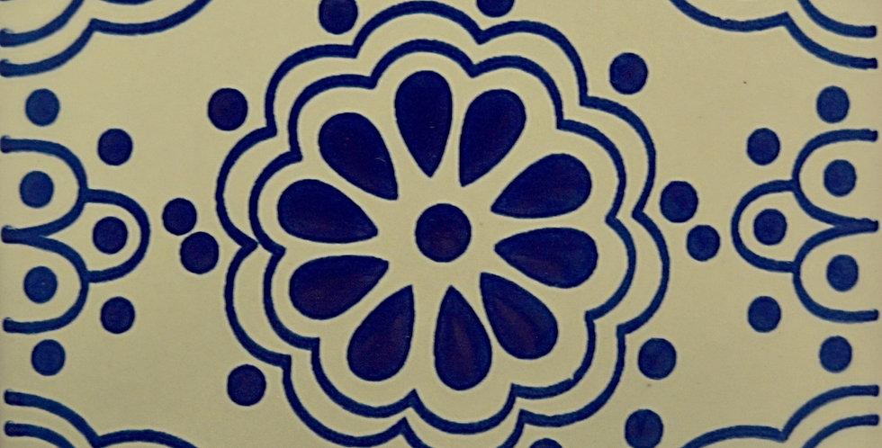 """Flor Azul   6""""x6"""""""