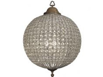 Crystal Effect Brass Chandelier LARGE (RRP £999.00)