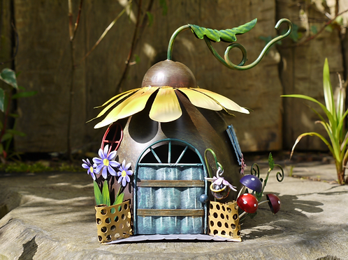Sunflower Fairy House