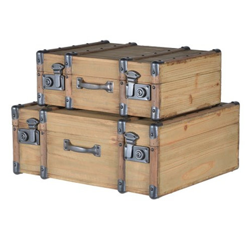 Wooden suitcases (set 2)