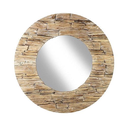 Sawarna white wash wooden mirror