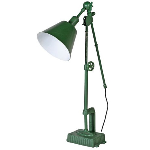 Green vintage lamp