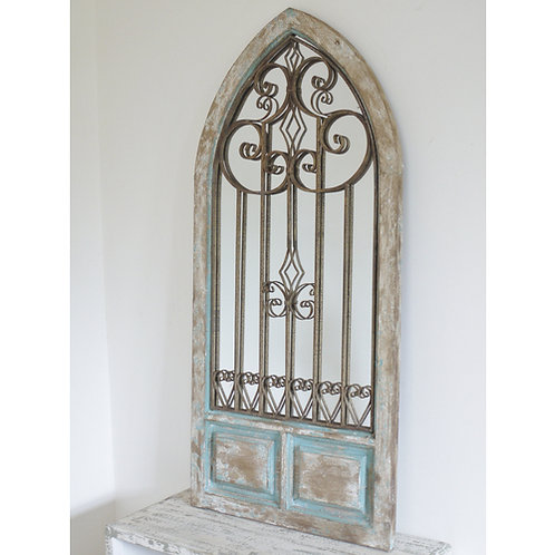 Arched rustic mirror