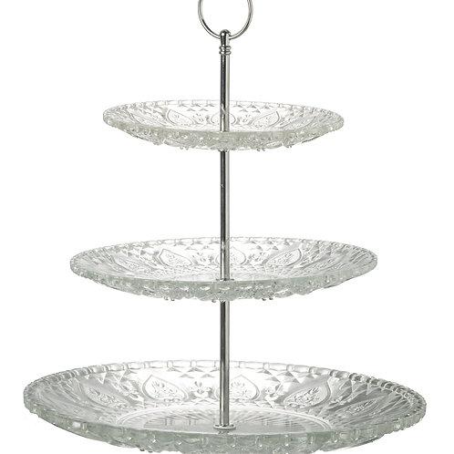 3 Tier Glass Cake Stand