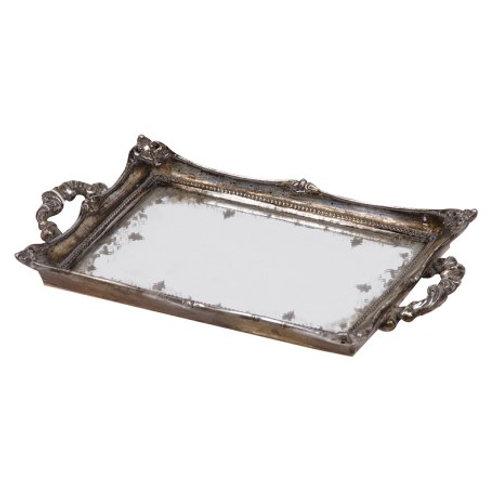 Distressed 'Silver' Mirror Tray