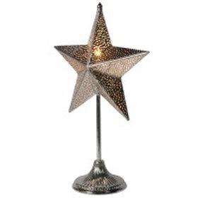 Small metal filigree star lamp