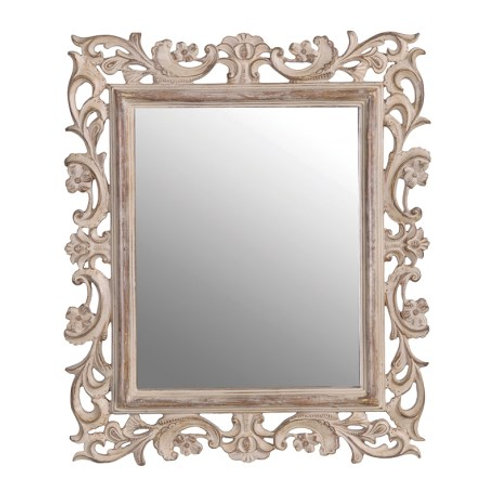 Small carved wood effectmirror
