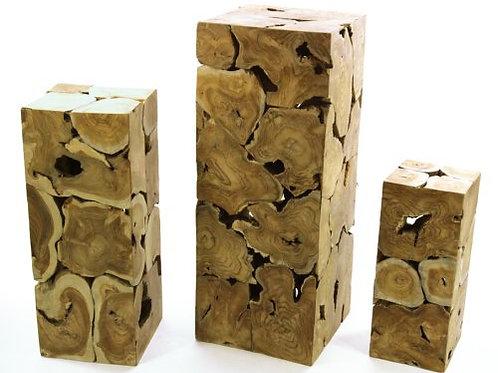 Teak Wood Plinth (Medium)