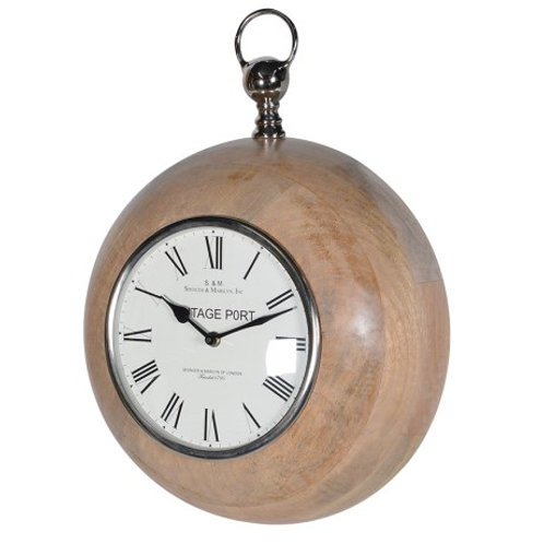 Wood surround stopwatch style clock