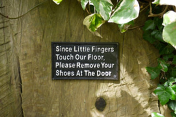 """Little fingers"" metal wall plaque"