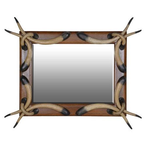 Wooden horn mirror (RRP £1215.50)