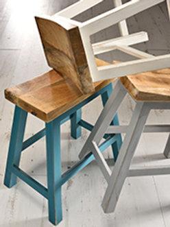Turquoise mango painted stool