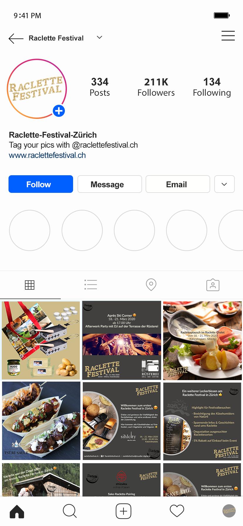 Social Media Auftritt: Instagram