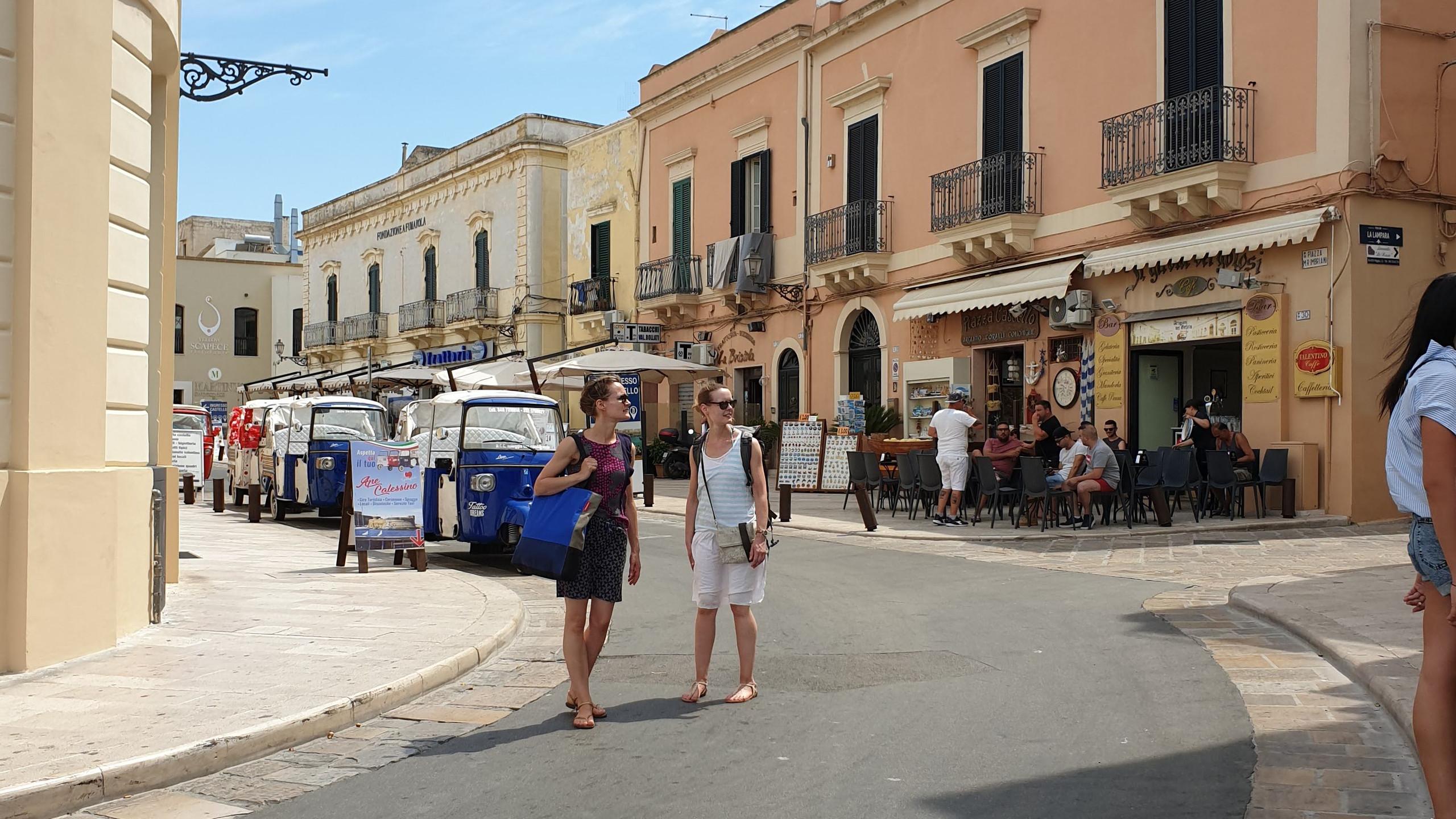 הכניסה לעיר העתיקה גליפולי, דרום איטליה