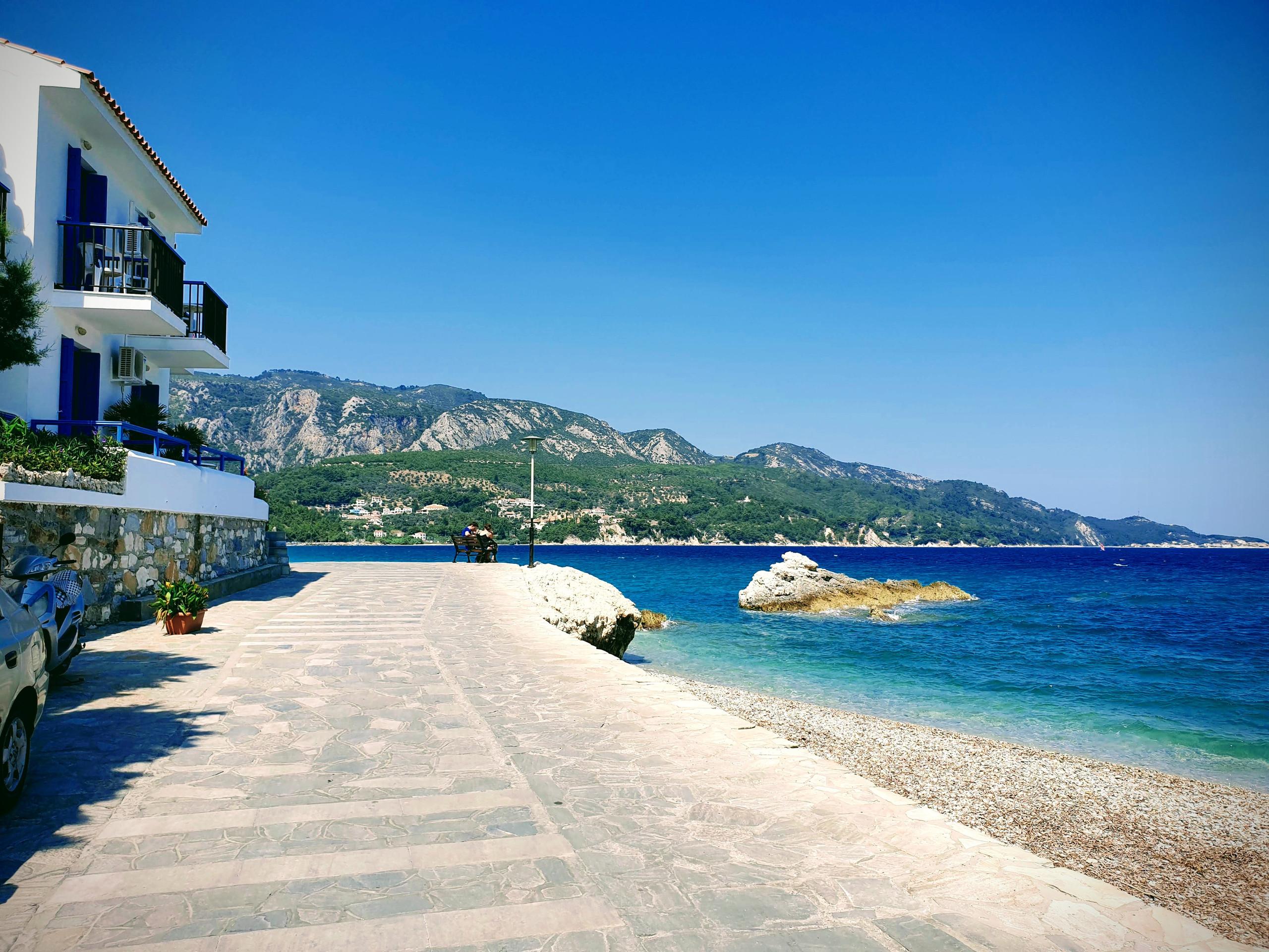 קו החוף בקוקארי, תמונת הדגל של הבלוג, סאמנוס, יוון