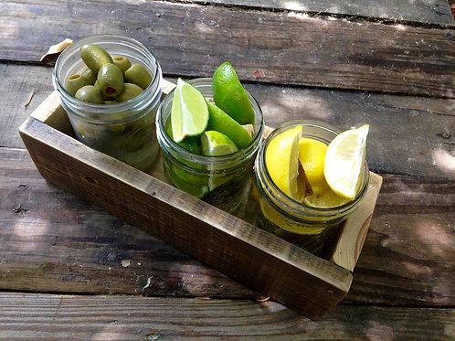 3 Jar Fruit Tray Box