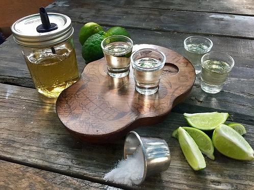 Skull Tequila Shot Plank
