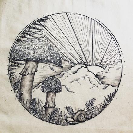 The Gnomeland~ Amanita Mushrooms and Ferns