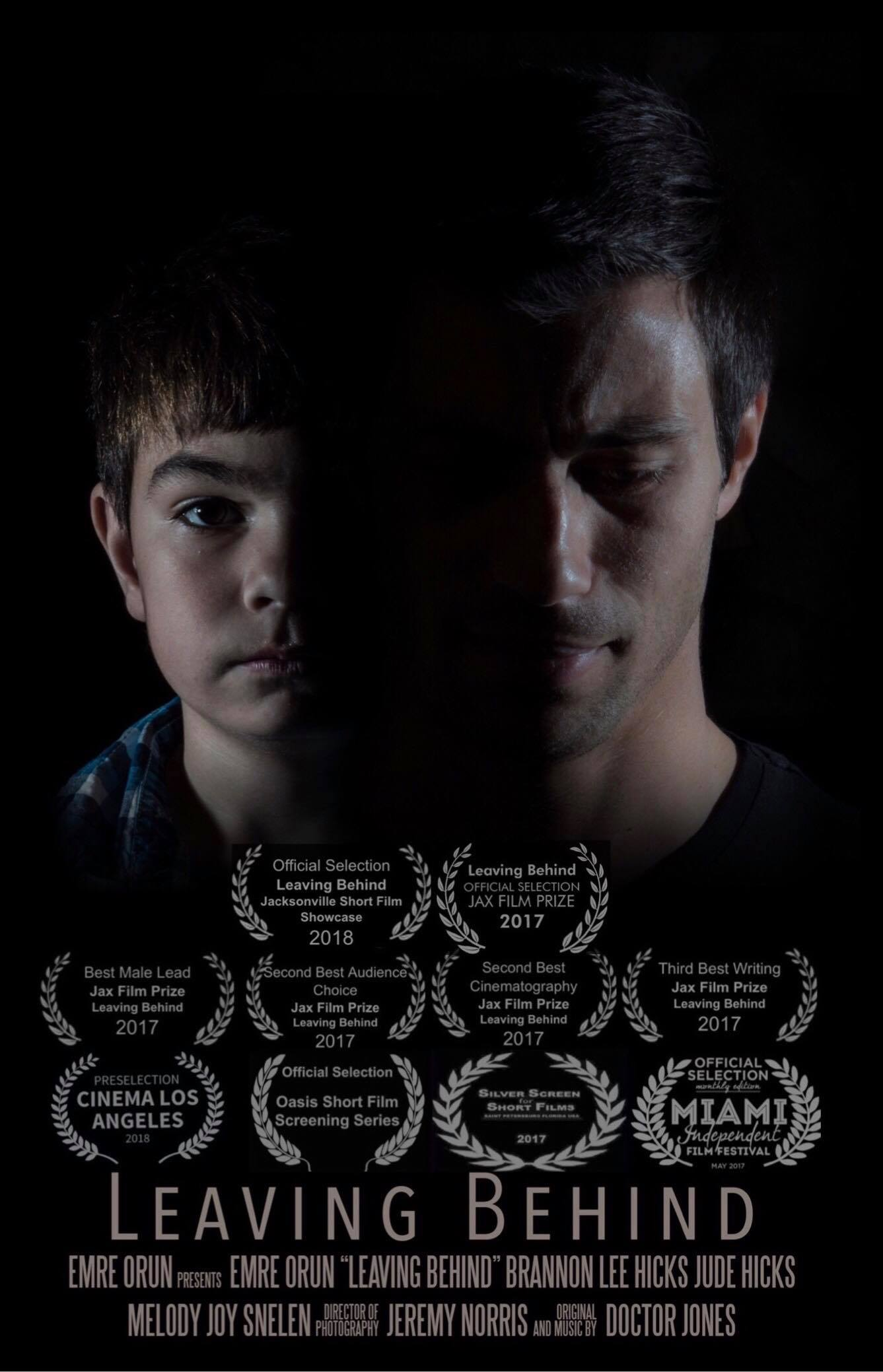 Leaving Behind Official Poster with Festival Laurels