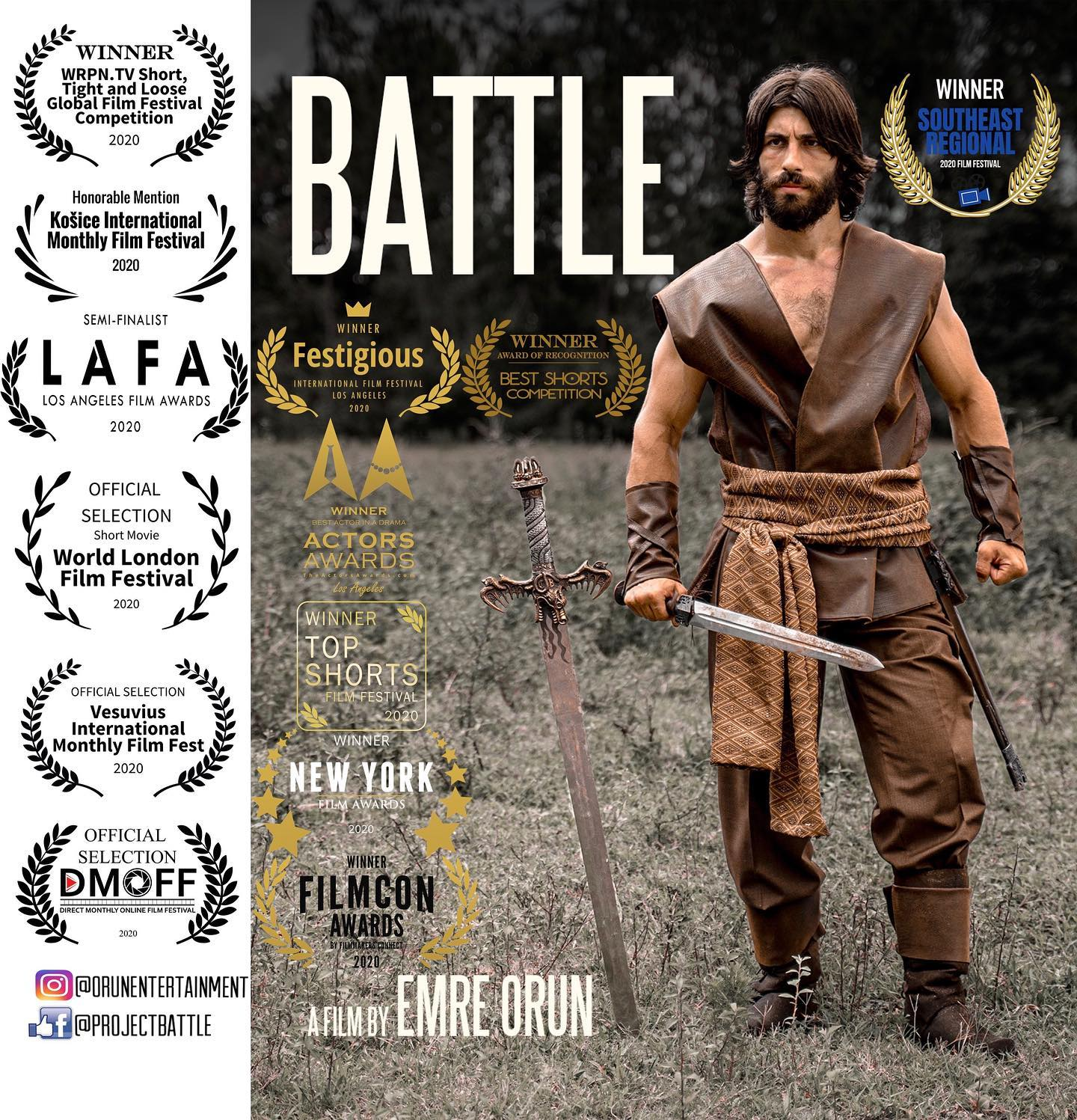 Battle Official Poster with Festival Laurels
