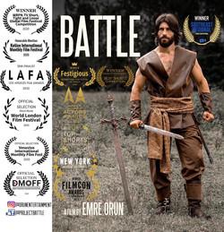 Battle Official Poster with Festival Laurels