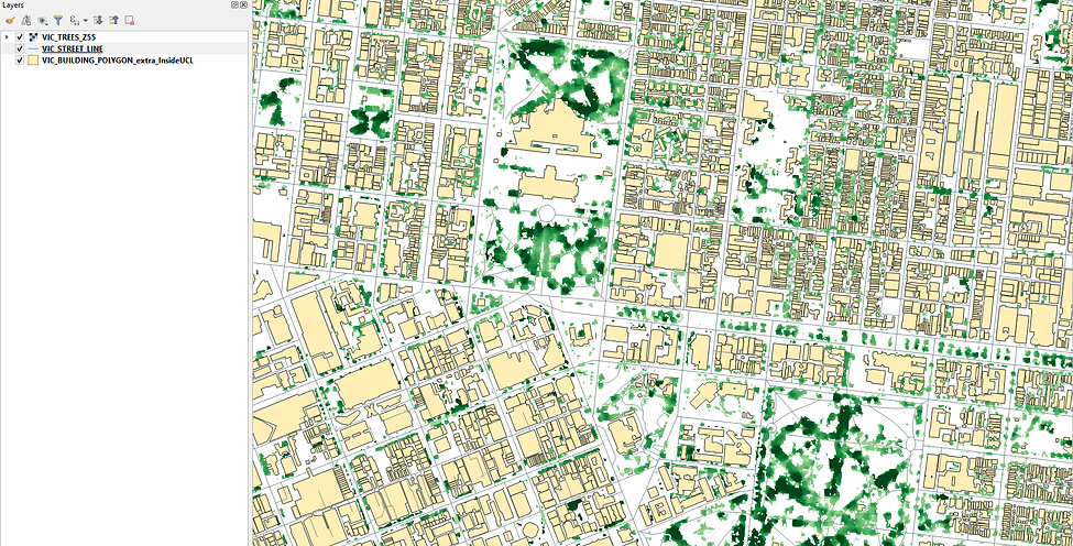 Map of tree cover height