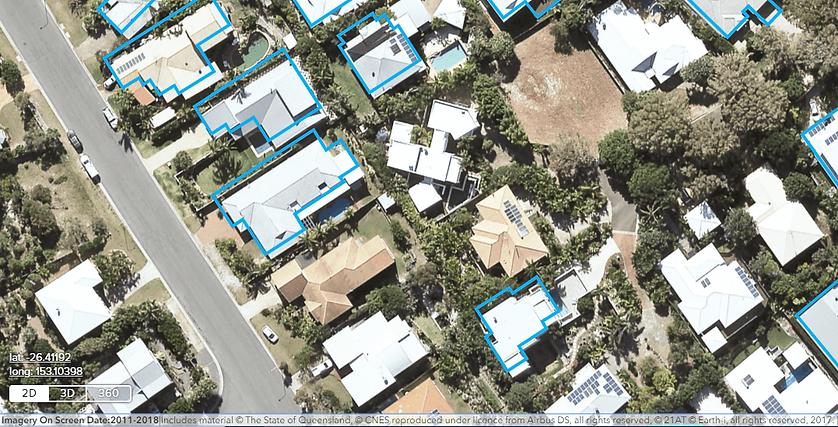 Aerial of swimming pools