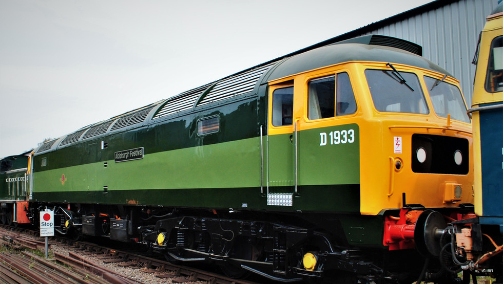 Newly refubished class 47 D1933 Aldeburg