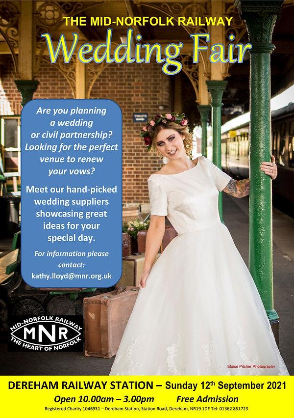 The Mid-Norfolk Railway Wedding Fair - 12th September 2021 - Dereham Railway Station 10am-3pm