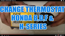CHANGE A THERMOSTAT HONDA B,D,F & H-SERI