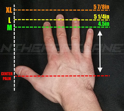 Disposable Nitrile Gloves Easy Hand Sizing Chart