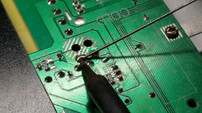 Pushing Solder Wire Into The Pre-Heated