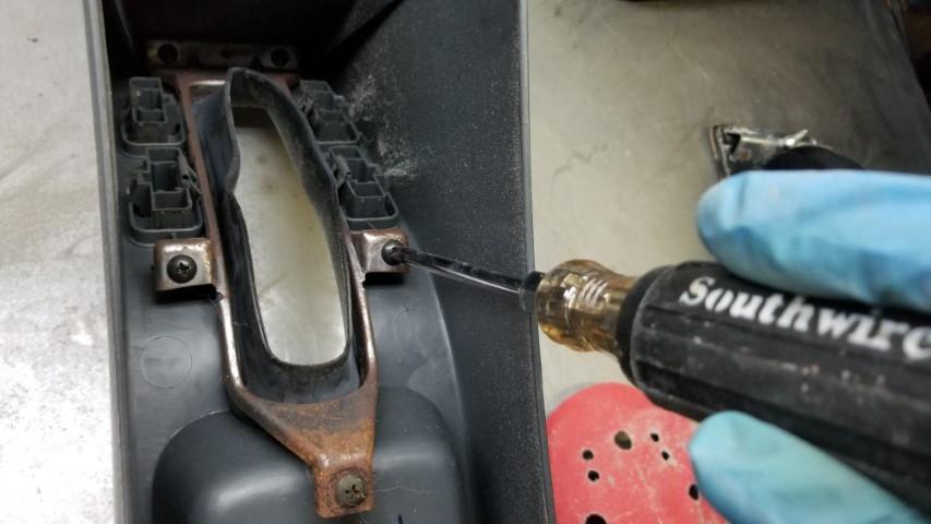 Removing E-brake Dust Boot Image 2