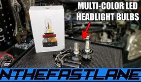 Multi Color Led Headlight Bulbs With 4 M