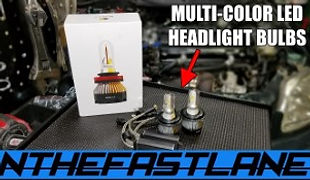 Multi Color Led Headlight Bulbs With 4 M