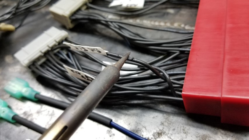 Melting Wire With Soldering Iron