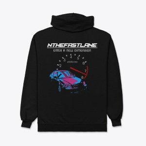 Unisex Zip Hoodie Honda Civic Blue-Pink Nthefastlane
