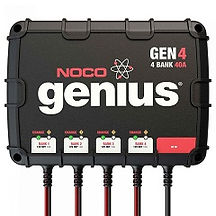 4-Bank 40 Amp On-Board Battery Charger