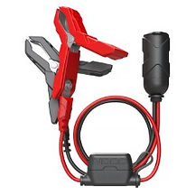 12 Volt Plug with Battery Clamps