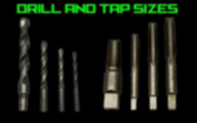 Drill and Tap Size Charts