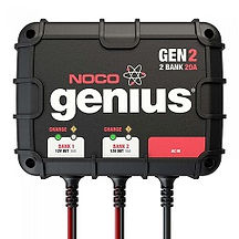2-Bank 20 Amp On-Board Battery Charger