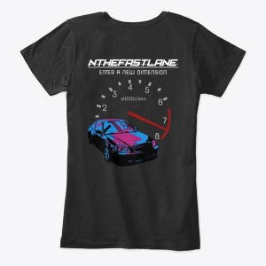 Women's Comfort Tee Honda Civic Blue-Pink Nthefastlane
