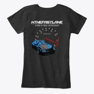 Women's Comfort Tee Honda Civic Blue-Gray Nthefastlane